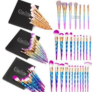 Unicorn Kabuki Makeup Brush Set Cosmetic Foundation Powder Brushes - Kabuki-makeup