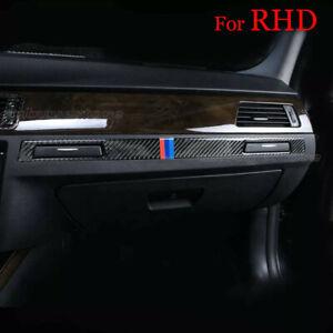 Carbon-Fiber-Water-Cup-Holder-Frame-Cover-Trim-for-BMW-3-RHD-Series-E90-E92
