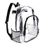 thumbnail 1 - Heavy Duty Transparent Clear Backpack See Through Backpacks for Travel,College