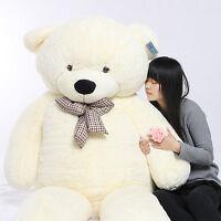 Joyfay 91'' 230cm White Giant Teddy Bear Stuffed Plush Toy Birthday Gift