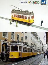Gelb Lissabon Tram HO / N Lehre (HOe) - motorisiert mit Licht NEU Analog Digital