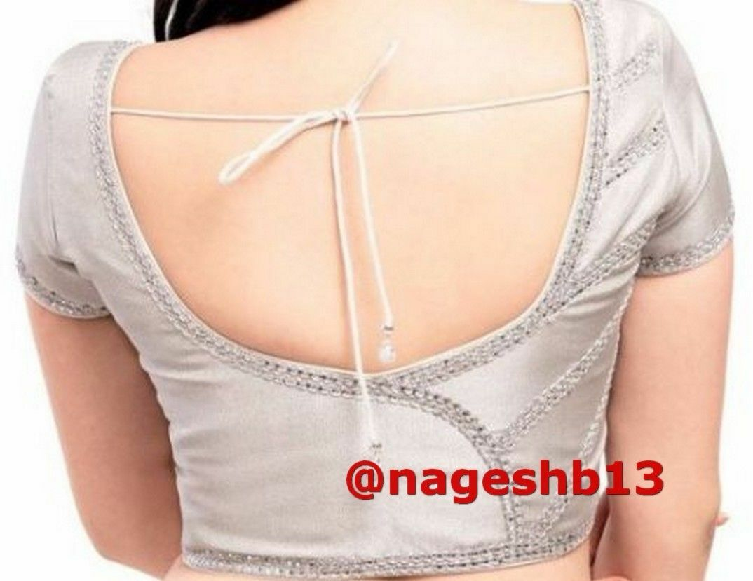Readymade Saree Blouse Silver Brocade Sari Blouse, Designer Indian Blouse, Choli