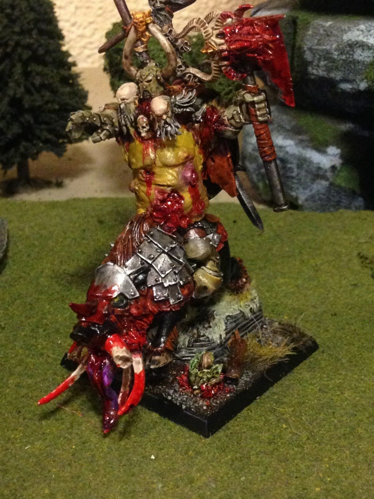 Ahorre 35% - 70% de descuento Warhammer Guerreros Del Caos Nurgle Lord o campeón campeón campeón en el Monte  nueva gama alta exclusiva