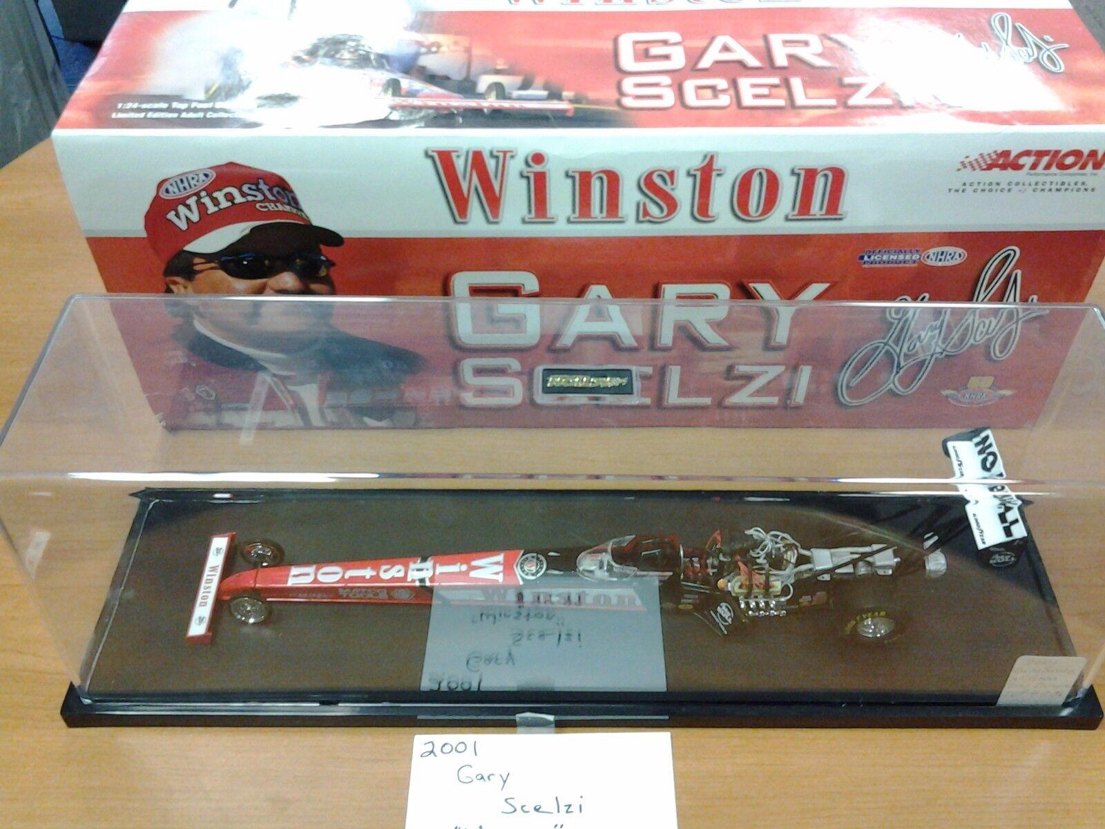 Gary Scelzi 2001 Winston Asociación Nacional de Hot Rod acción 1 24 Nuevo en Caja 1 de 4,236 in Vitrina arrastrar