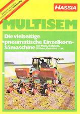 Hassia pneum. Einzelkornsämaschine Multisem, orig. Prospekt 1970
