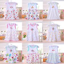 New Baby Newborn Toddler Kids Soft Princess Cartoon Summer Dress Clothes Lovely