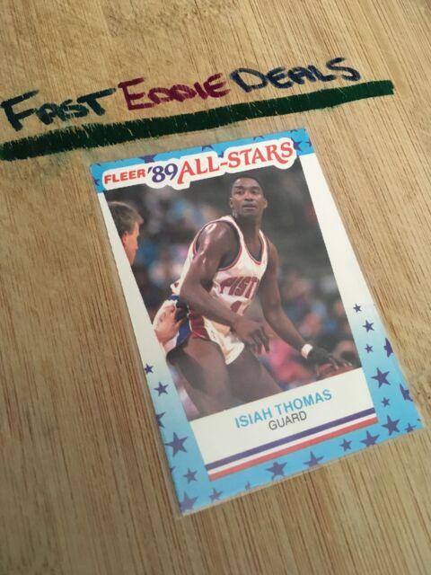 FLEER BASKETBALL 1989 ISIAH THOMAS ALL STAR STICKER CARD NO 6 DETROIT PISTONS