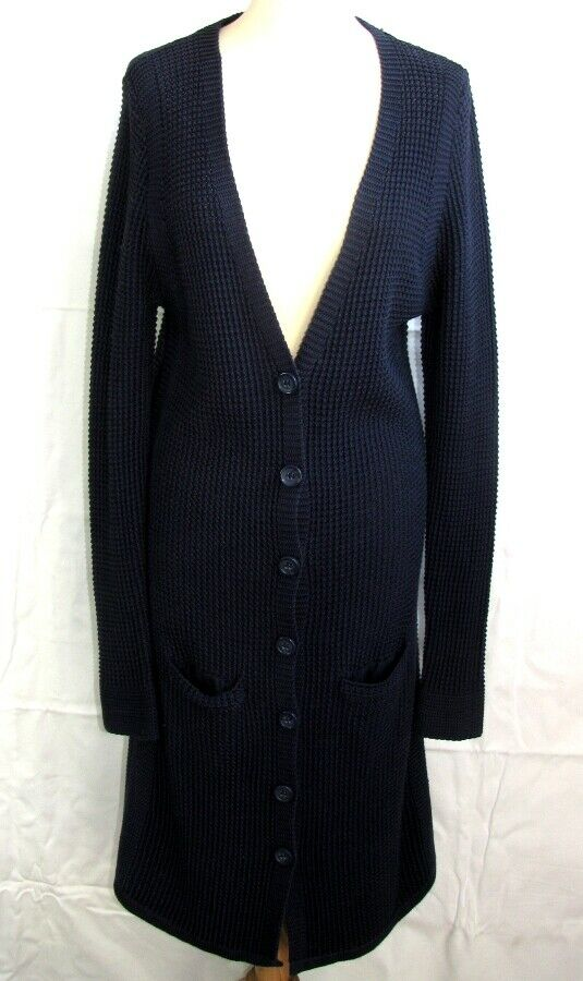 GERARD DAREL LONG VEST SLEEVES MESH COTTON blueE T 1 = 36 38 EXCELLENT CONDITION