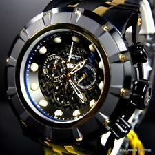 Invicta Reserve S1 Grand Speedway 54mm Gold Tone Black Steel Chrono Watch New