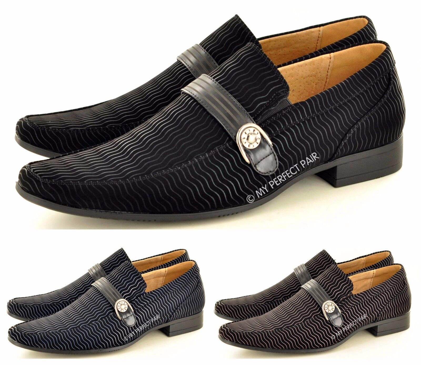 New Mens Italian Style Formal/ Wedding Available Slip On  shoes Available Wedding UK Size 6 -12 9ac3df
