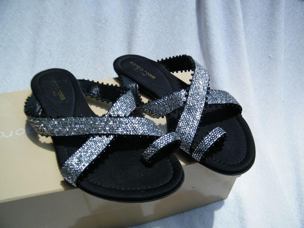 SERGIO ROSSI Schuhe BALLET flats loafers SANDALS schwarz 36.5 6.5
