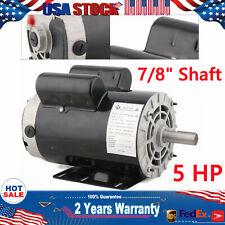 5hp Compressor Duty Electric Motor Single Phase 3450rpm 56 Frame 78 Shaft 230v