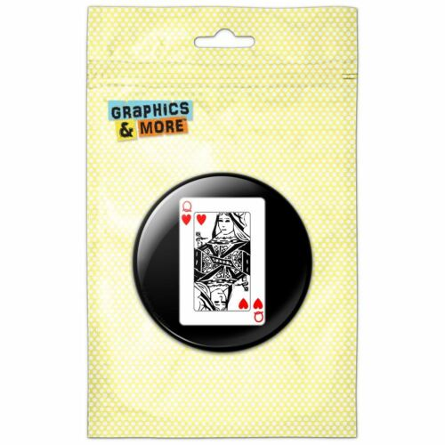 Playing Cards Queen of Hearts Pinback Button Pin Badge