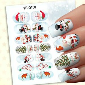 Christmas Design For Girls Nail Art Stickers Decals Nail Decoration