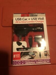 Motor Trend USB car + USB wall All in one combo charger. New in box.
