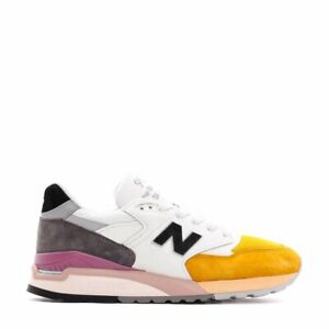 pretty nice 611b8 4f744 Details about New Balance 998 in White/Orange M998PSD