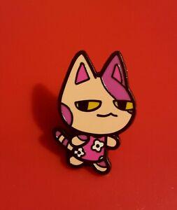 Animal-Crossing-Pin-Villager-Pink-Purple-Flower-Dress-Enamel-Brooch-Badge-Lapel