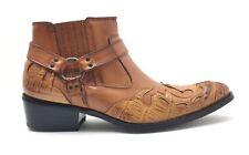 43dbc7e8f item 5 Alfa Mens Shoes Boots Western Cowboy Zipper Harness Buckle in Black    Tan -Alfa Mens Shoes Boots Western Cowboy Zipper Harness Buckle in Black    Tan