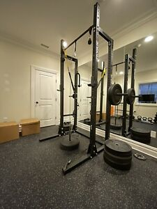 rogue crossfit full home gym  concept 2 rower detailed