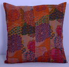 """16"""" NEW INDIAN DECOR CUSHION PILLOW COVER Kantha Patola Patch Throw Vintage Art"""