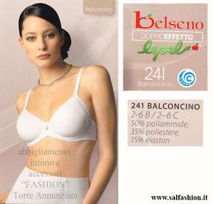 7c454bf7a90d Caricamento dell'immagine in corso REGGISENO-BALCONCINO-PREFORMATO-LISCIO- LEPEL-DOPPIO-EFFETTO-ART-