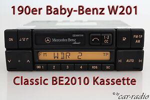Mercedes-Original-Car-Radio-w201-190er-C-Class-Classic-be2010-Cassette-Radio-CC