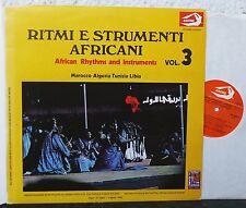 African rhythms and instruments vol. 3 LP Marocco Algeria Tunisia Libia