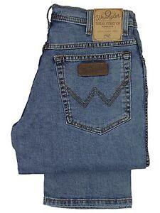 WRANGLER-Bnwt-Da-Uomo-Texas-Stretch-Stone-Wash-Regular-Fit-Jeans-30-a-48