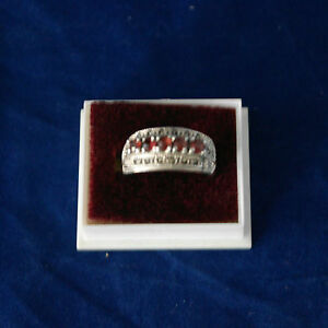 Beautiful-925-Silver-Ring-With-Marcasite-And-Faceted-Garnet-5-Gr-1x2-Cm-Wide