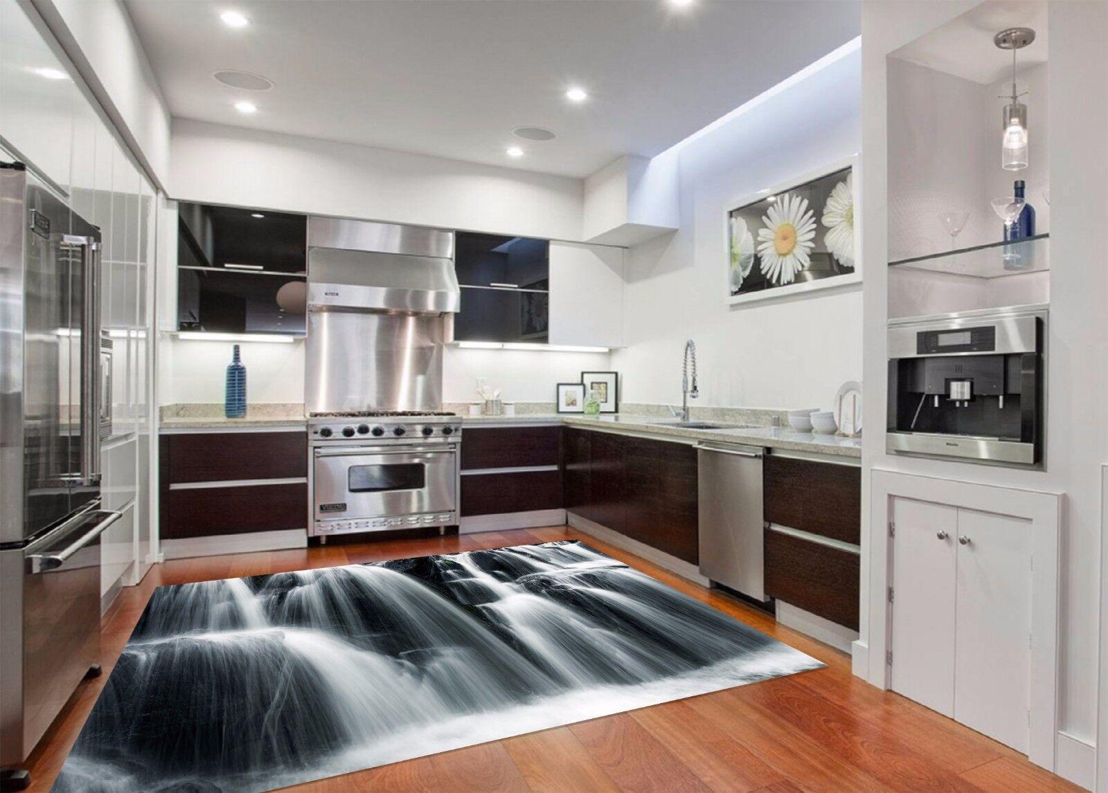 3D Alpine Waterfall 833 Kitchen Mat Floor Murals Wall Print Wall Deco UK Carly