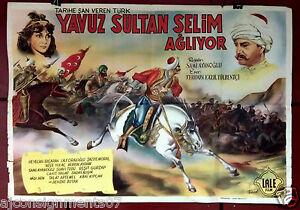 Yavuz-Sultan-Selim-Agliyor-Sami-Ayanoglu-Original-Turkish-Movie-Poster-1950s