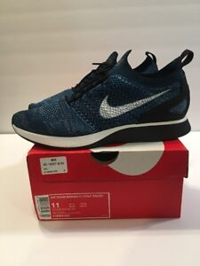 half off fac57 dbf5b Image is loading NIKE-Mens-Air-Zoom-Mariah-Flyknit-Green-Abyss-