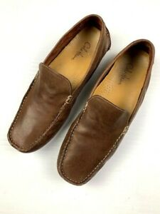 COLE-HAAN-Mens-Leather-Driving-Loafers-Moccasin-Size-10-5-M-Brown
