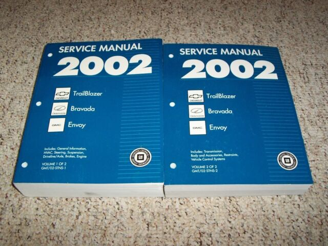 2002 Chevy Trailblazer Oem Shop Service Repair Manual Ls