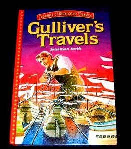 GULLIVER-039-S-TRAVELS-HB-LARGE-PRINT-ILLUS-PRINT-IN-ITALY-JONATHAN-SWIFT-TREASURY