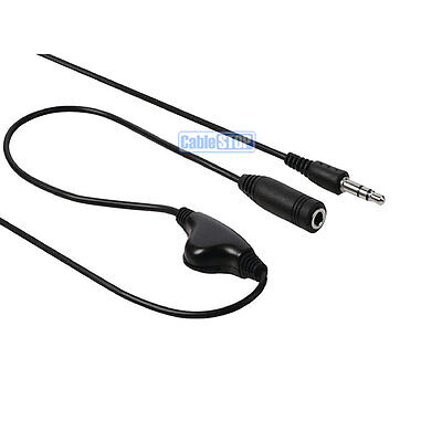 3.5mm IN LINE HEADPHONE & EARPHONE VOLUME CONTROL ADAPTER CABLE Male to Female