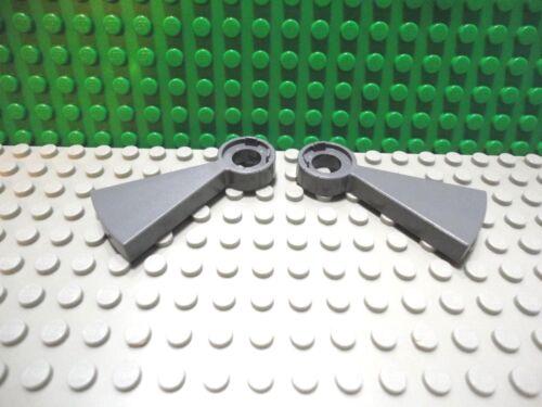 Lego 2 Dark Bluish Gray step risers stairs NEW