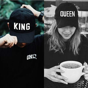 c949e196f10 Men s Women s Hip Hop Caps Baseball King Queen Cap Couple Lovers ...