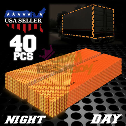 Orange DOT-C2 Conspicuity Reflective Tape Strip 1 Foot Safety Warning Trailer RV