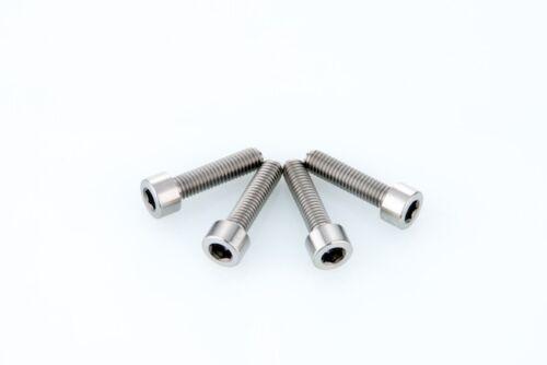 x4 CNC Titanium Bolt M5x20mm DIN912 Hex Allen Head M5 20L Bicycle Bike Screw