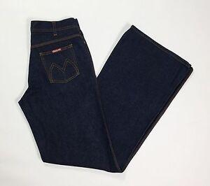Meltin-pot-redhot-W29-42-43-jeans-donna-a-zampa-loose-bootcut-usato-blu-T1280