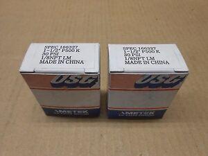 2-NIB-AMETEK-USG-166327-GENERAL-PURPOSE-GUAGE-1-1-2-034-P500K-30PSI-1-8NPT-BOX-OF-2