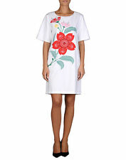 Love Moschino Floral Embellished Cotton Dress Size UK 10 EU 36 US 6 IT 42