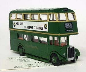 EFE-1-76-Scale-London-RT-With-Roof-Box-Save-St-Albans-LT-Garage-Diecast-Bus