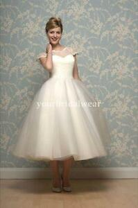 e758706a47dbb UK 50s 60s vintage lace short wedding dress cap sleeve knee tea any ...