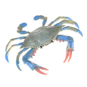 PVC Blue Crab Realistic Sea Animal Model Solid Figure Ocean Kids Toy Gift RS
