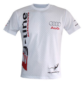 audi s line quattro logo white unique handmade sublimation. Black Bedroom Furniture Sets. Home Design Ideas
