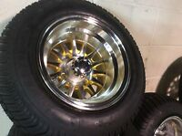 Golf Cart Wheel And Tire Combo Special Fit E-z-go Club Car Precedent