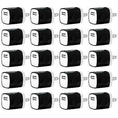 20x Pack 1A Universal USB Travel Wall Charger Power Adapter for iPhones Android
