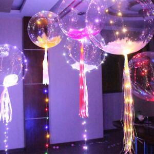 100pcs plume pour d coration lumineux led ballon transparent mariage no l f te ebay - Decoration mariage ballon ...
